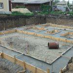 Бетонирование бетонного основания завершено