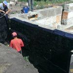Устройство оклеечной гидроизоляции стен