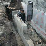 Устройство стен входной группы