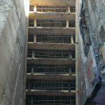 Установка опалубки и вязка каркаса лестницы