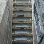 Бетонирование лестницы входной группы